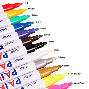 12pcs Car Paint Marker Tyre Tire Tread Pen Waterproof Permanent Tire Pen Black