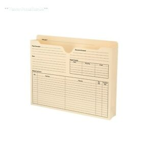 Manila File Jackets Letter Size Document Holder Folder Paper School Office New