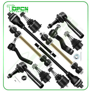 12pcs Front Tie Rod Ends Kit Suspension Parts For Chevrolet Silverado 1500 4wd