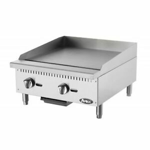 Atosa Atmg 24 Heavy Duty Stainless Steel 24 inch Manual Griddle Propane