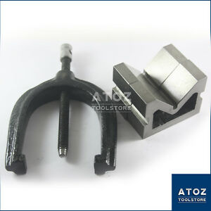 100x75x38mm Vee Blocks Pair Cast Iron With Clamp Best Quality Atoz