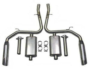Bassani M 46995s Cat Back Exhaust 1999 2004 Ford Mustang Gt Genuine And New