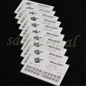 Supply 100x Mini Dental Orthodontics Brackets Braces Metal Roth 0 018 3hooks