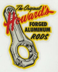 Howards Cams Aluminum Rods Decal