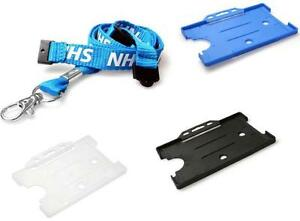 Nhs Triple Breakaway Lanyard Neck Strap With Id Card Pass Holder Free P