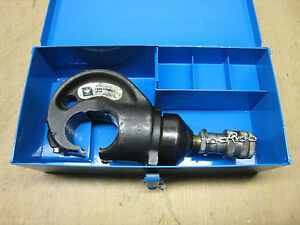 Ideal 88 829 Hydraulic Crimper Head Crimping Tool 12 Ton With Case Free Shipping