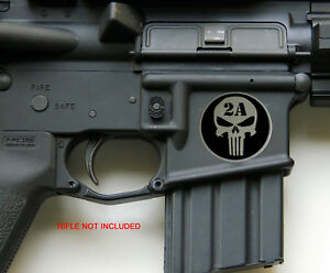 3d Metal 2nd Amendment Rifle Gun Sticker Emblem Decal Nra 1 25