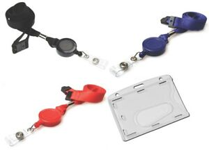 Retractable Neck Strap Lanyard With Reel Security Id Pass Card Holder Free P p