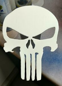 Punisher Trailer Hitch Cover White