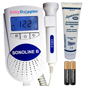 Fda Sonoline B Fetal Doppler 3mhz Probe Baby Heart Monitor Backlight Lcd Gel