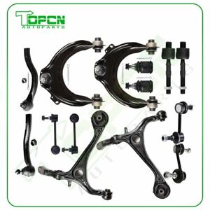 14pcs For 2003 2007 Honda Accord Lower Upper Control Arms Tie Rods Suspension