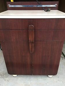 Vtg Retro Antique Medical Doctors Table Cabinet Industrial Furniture Decor