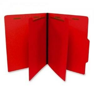 Sj Paper Economy Classification Folders Letter Size 6 Fasteners Red 5bx c