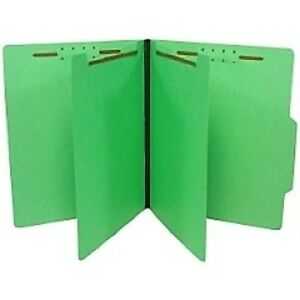 Sj Paper Economy Classification Folders Letter Size 6 Fasteners Green 5bx c