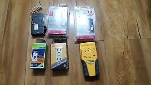 Mix Lot Of Homeline 15 A Circuit Breaker Hom115cafic With Stud Finder