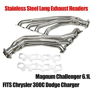 Stainless Long Headers Fits Chrysler 300c Dodge Charger Magnum Challenger 6 1l