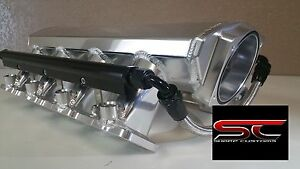 Low Tig Welded Ls1 Intake Manifold W Rails Lsx Ls2 Cathedral Heads Fabricated