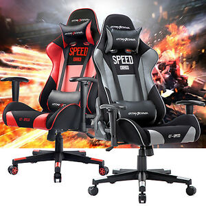 Gt Racing Chair Executive Gaming Chair Ergonomic Leather Swivel Office Chair Us