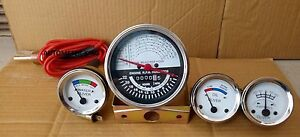 Oliver Tractor Super 55 66 67 Gauge Kit tachometer Temp Ampere Oil white