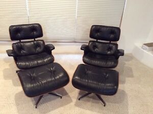 Charles Eames Lounge Chairs Ottomans