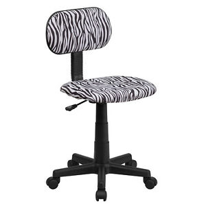 Flash Furniture Black And White Zebra Print Swivel Task Chair Bt z bk gg