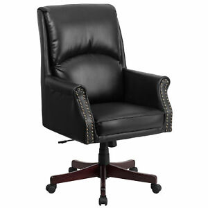 Flash Furniture Black Leather Executive Swivel Office Chair Bt 9025h 2 gg