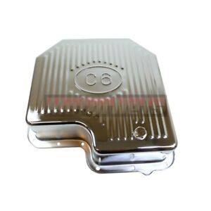 Ford C 6 C6 Transmission Pan Chrome Steel extra Depth Capacity Mustang Finned
