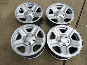 Set Of 4 Silver 2007 2013 Oem Jeep Wrangler Factory 16 Steel Wheels Rims