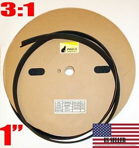 82 Feet 1 Industrial Black Heat Shrink Tubing 3 1 Adhesive Glue Lined Tubes