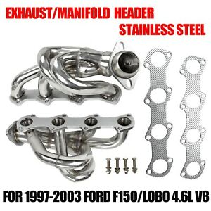 Exhaust manifold Stainless Steel Header For 97 03 Ford F150 lobo 4 6l V8 Pickup