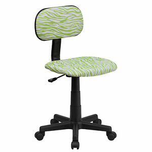 Flash Furniture Green And White Zebra Print Swivel Task Chair Bt z gn gg