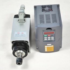 4 Bearing 4kw Er20 Air cooled Spindle Motor And 4kw Inverter Drive Vfd For Cnc