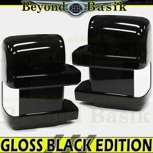 2008 2016 Ford F250 F550 Gloss Black Mirror Covers For Towing W Turn Signal Hole