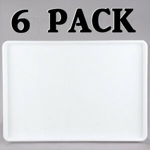 6 Pack 18 X 26 White Display Storage Tray Bakery Donut Cafe Cookie Serving New