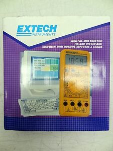 Extech Instruments 383273 Digital Multimeter Rs 232 Interface W Software Etc New