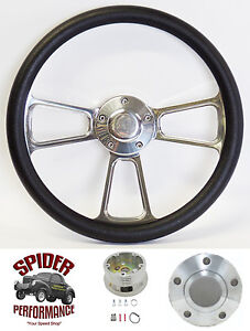 1978 1991 Ford Pickup Ranchero Bronco Steering Wheel 14 Polished Billet