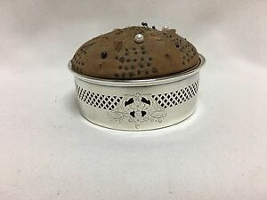 Meriden 185a Sterling Silver Floral Pierced Pin Cushion 4