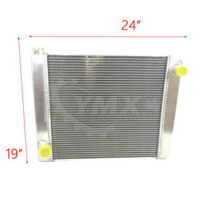 New Universal Fabricated Aluminum Racing Radiator Ford mopar 24 x19 x3 G161