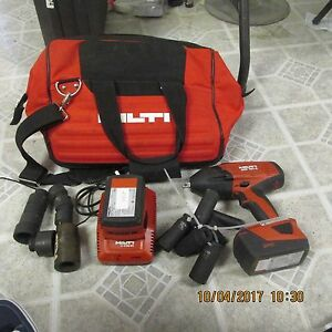 Hilti Siw 18t A 1 2 21 6v 18v Cpc High Torque Impact Wrench 2 Battery Kit