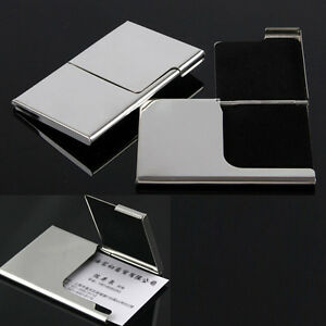 2 Lot Personalized Business Card Holder Shiny Credit Id Card Wallet Case Purse