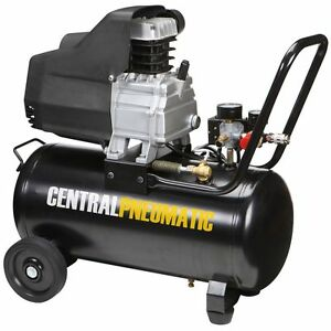 8 Gal 2 Hp 125 Psi Oil Lube Air Compressor Central Pneumatic Item 68740