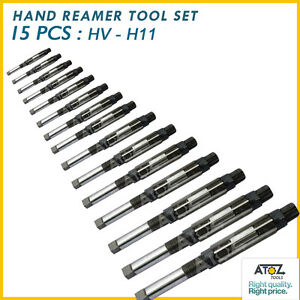 Sale Atoz 15 Pcs Adjustable Hand Reamer Set H v To H 11 Sizes 1 4 To 1 1 16