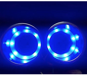 4x Stainless Steel Cup Drink Holder 8led Blue Light Marine Boat Truck Camper