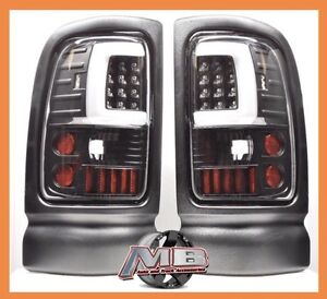 Black Clear 1994 2001 Dodge Ram 1500 2500 3500 Led Tube Tail Lights Brake Lamps