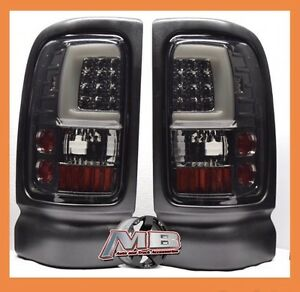 Smoke Tinted 1994 2001 Dodge Ram 1500 2500 3500 Led Tube Tail Lights Brake Lamps