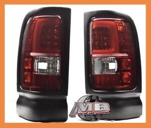 Rich Red 1994 2001 Dodge Ram 1500 2500 3500 Led Tube Tail Lights Brake Lamps