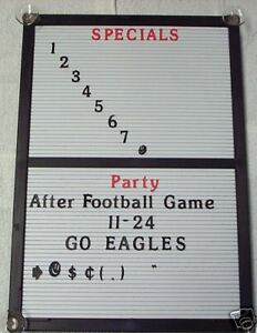 New Menu Board Changeable Letter Message Info Sign With Letters