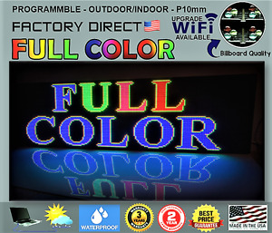 Full Color Real Pixel 10mm Best Outdoor Advertising Led Sign 26 X 51 usa