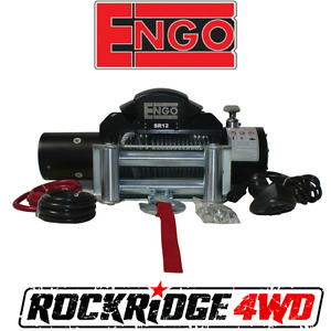 Engo Sr12 Electric 12k Cable Winch 3 8 X 85 Roller Fairlead W Wired Remote