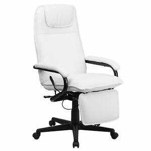 Flash Furniture White Leather Executive Swivel Office Chair Bt 70172 wh gg